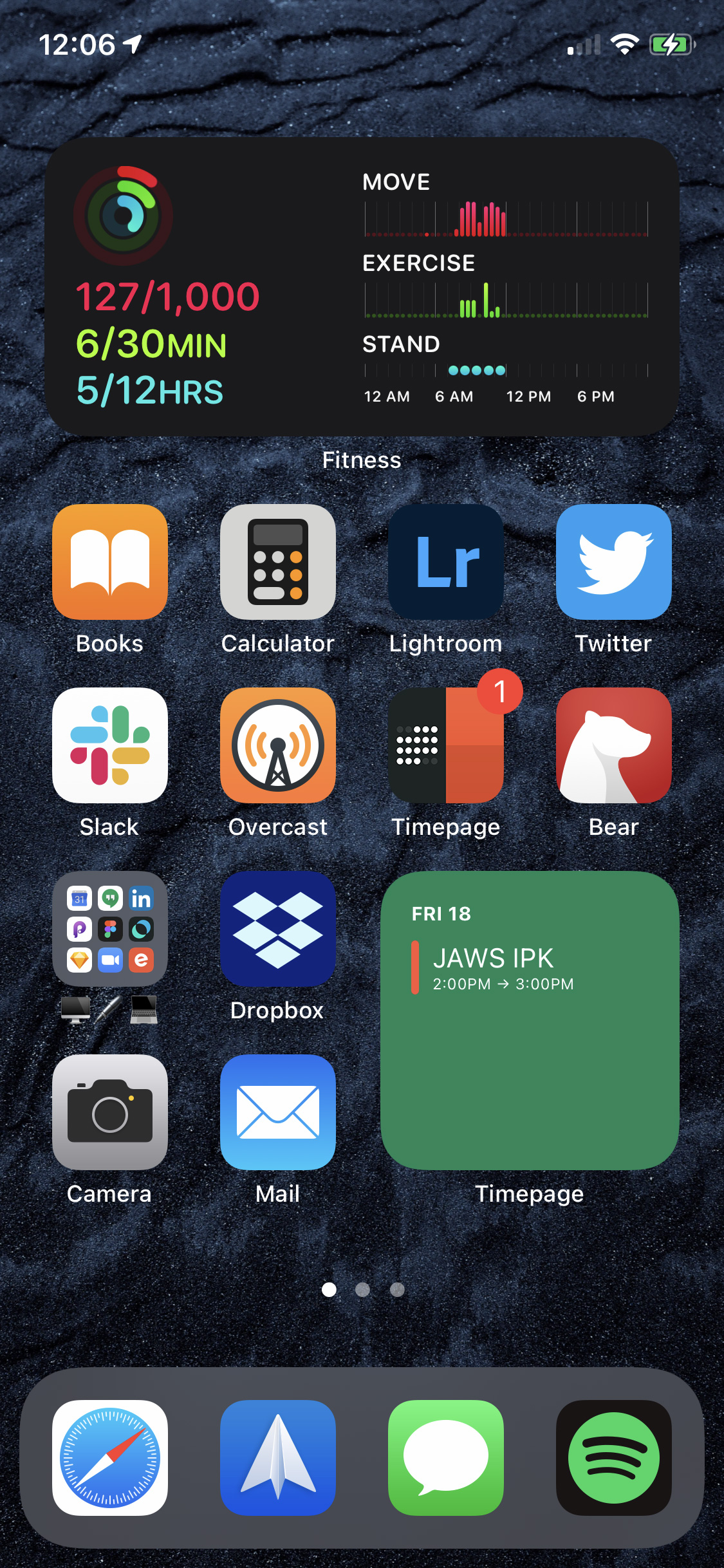 Home Screen 1 - Most Used Apps and Work-Related Apps