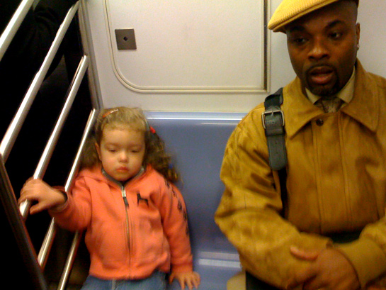 commuter buddies on the 6 train