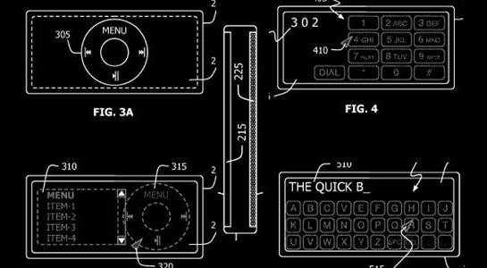 Apple iPhone, iPod patent diagrams